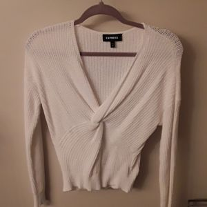 Express Wrap Front Sweater